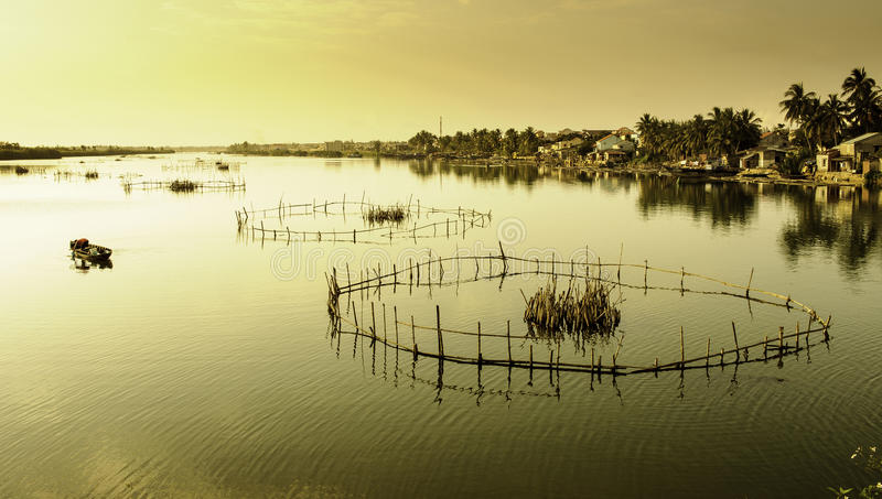 Laghi Hoi-an, Vietnam 10 fotografia stock libera da diritti