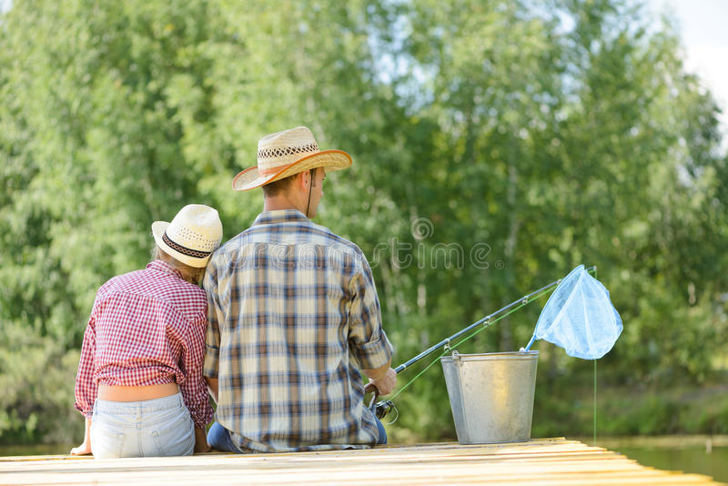 Pesca di estate immagini stock libere da diritti