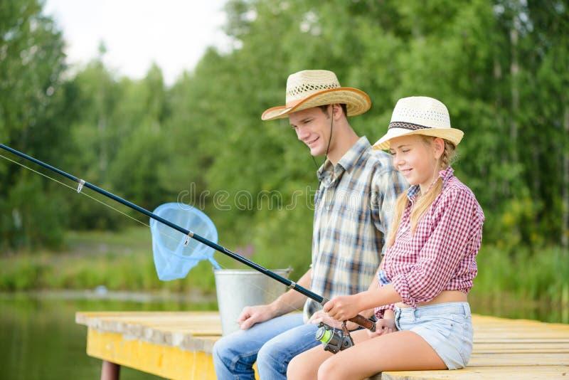 Pesca di estate fotografia stock
