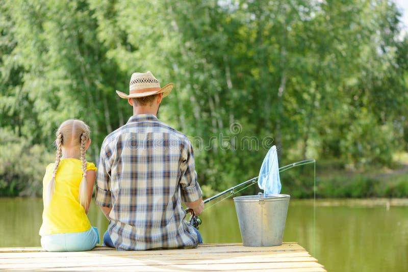Pesca di estate fotografie stock