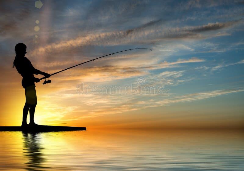 Pesca di estate fotografie stock libere da diritti