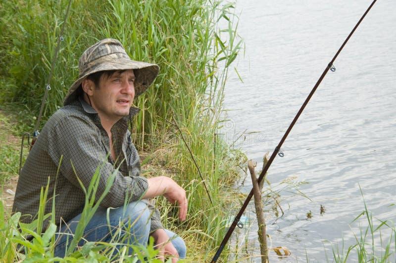 Pesca di estate immagini stock