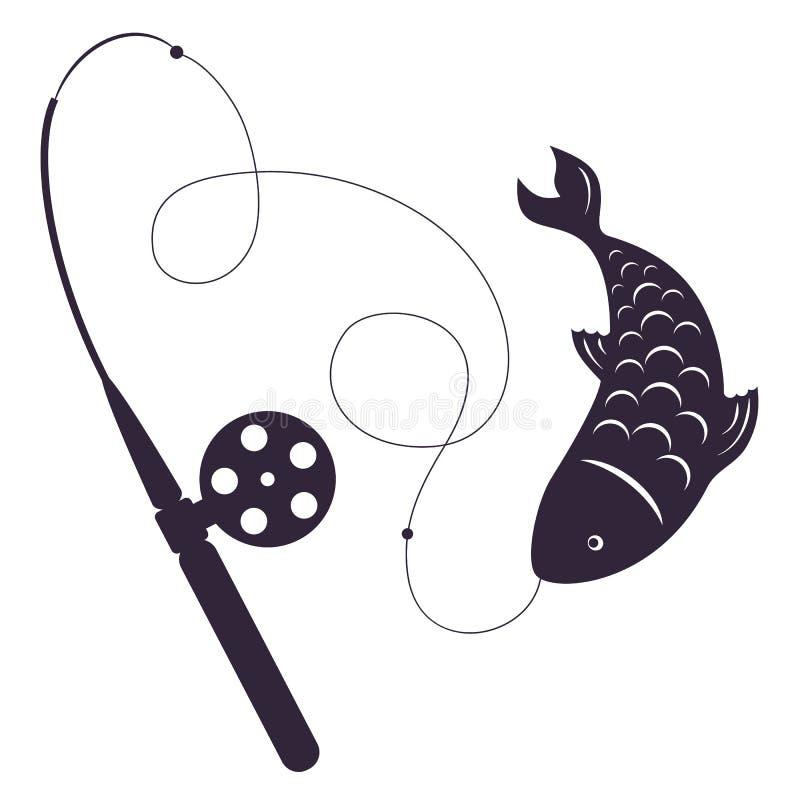 Pesca di inverno illustrazione di stock
