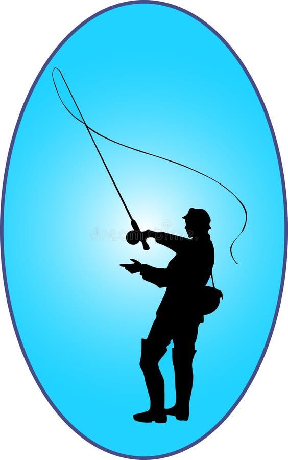 Pesca di mosca royalty illustrazione gratis