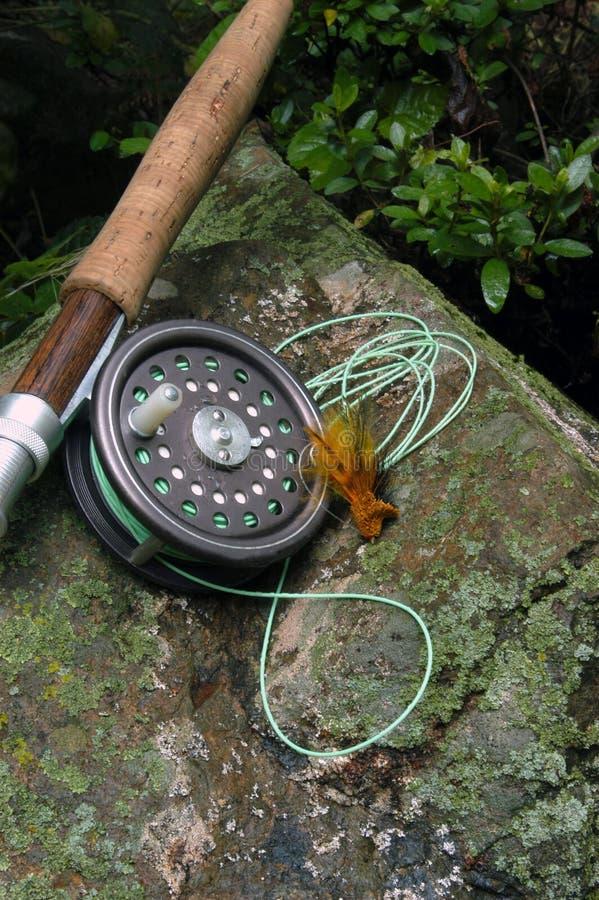 Pesca di mosca VII fotografie stock libere da diritti