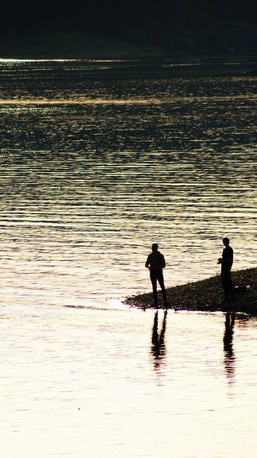 Pesca di sera immagine stock libera da diritti