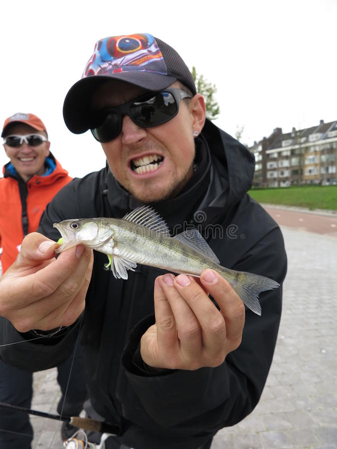 Pesca di Zander immagini stock libere da diritti