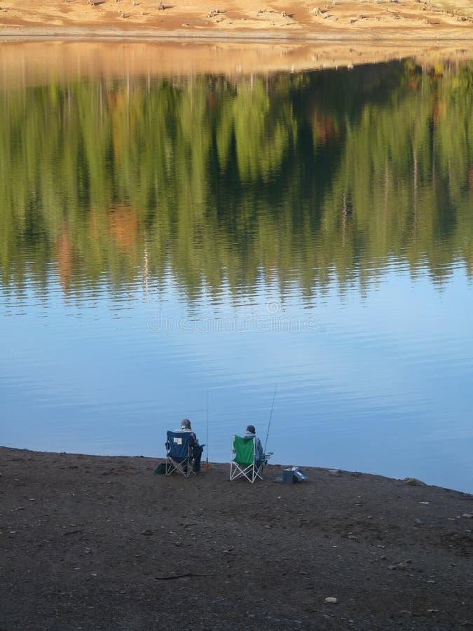 Pesca do banco imagens de stock