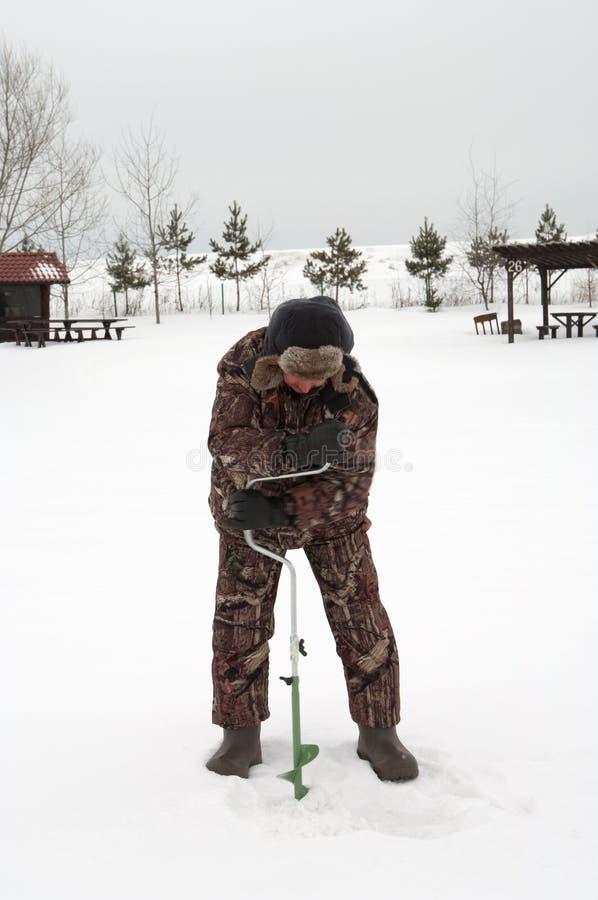 Pesca do inverno. imagens de stock
