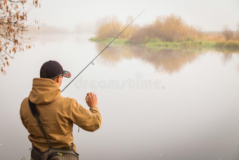 Pesca do outono fotografia de stock