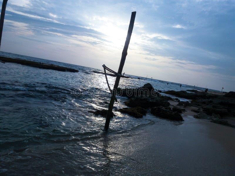 Pesca do pernas de pau imagem de stock royalty free
