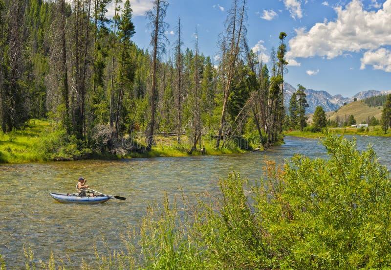Pesca do rio, Idaho imagens de stock royalty free