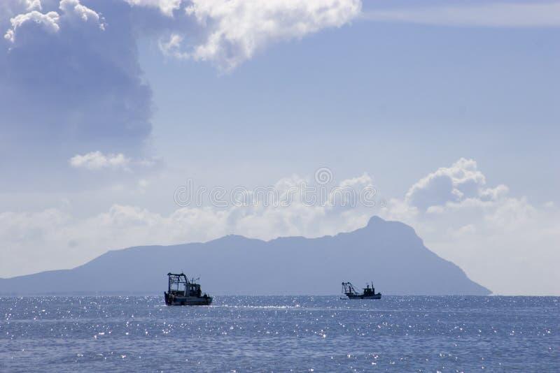 Pesca dos barcos imagens de stock