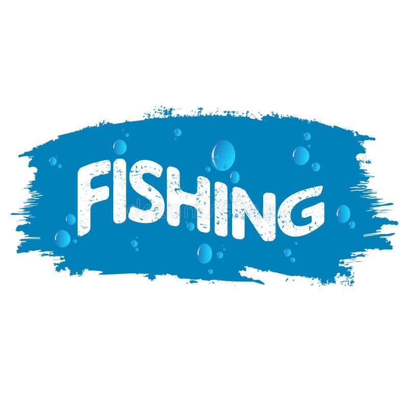 Pesca e ilustração das gotas da água ilustração do vetor