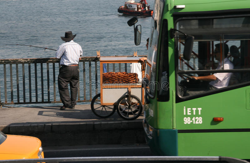 Pesca em Istambul imagens de stock royalty free