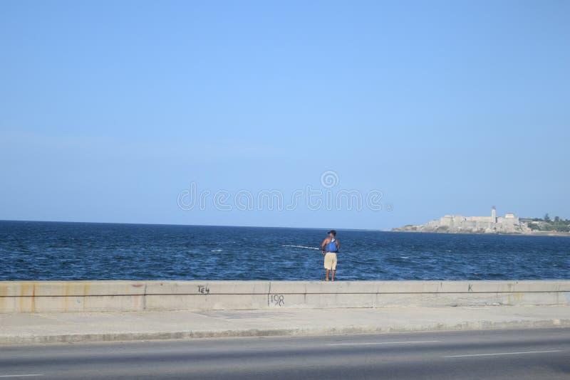 Pesca em La Habana Cuba fotografia de stock royalty free