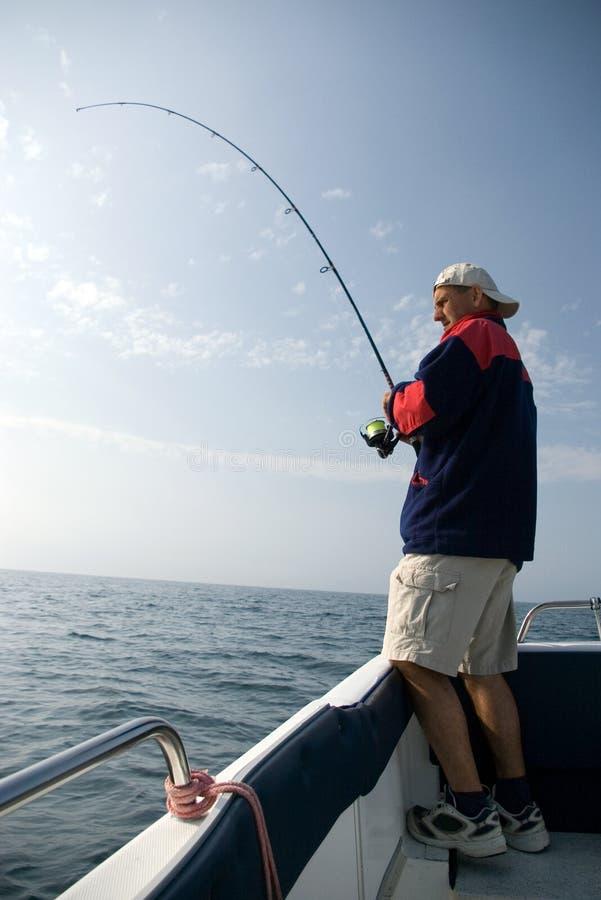 Pesca en mar. imagen de archivo libre de regalías
