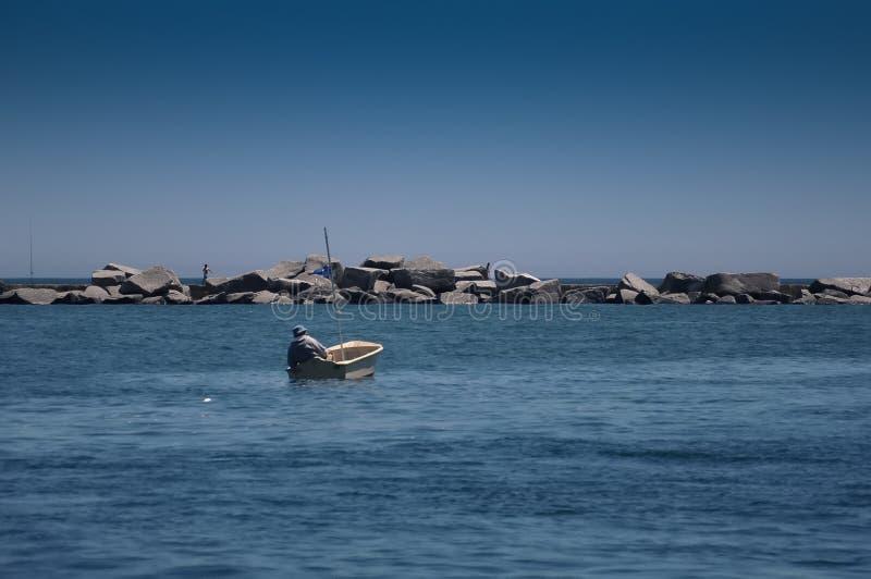 Pesca en mar fotos de archivo