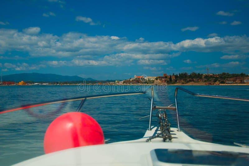 Pesca en mar Yate fotos de archivo libres de regalías