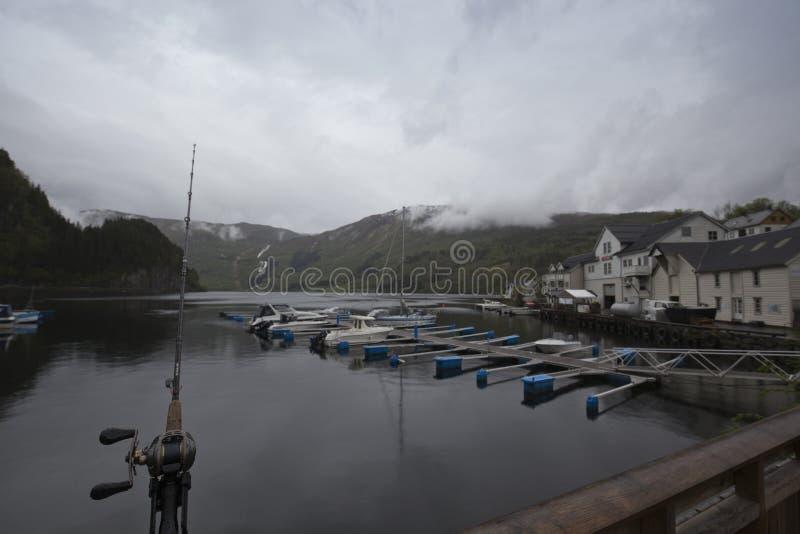 Pesca en Noruega imágenes de archivo libres de regalías