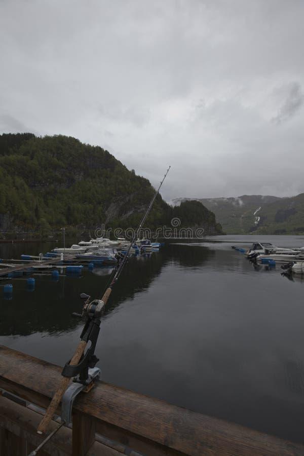 Pesca en Noruega imagen de archivo libre de regalías