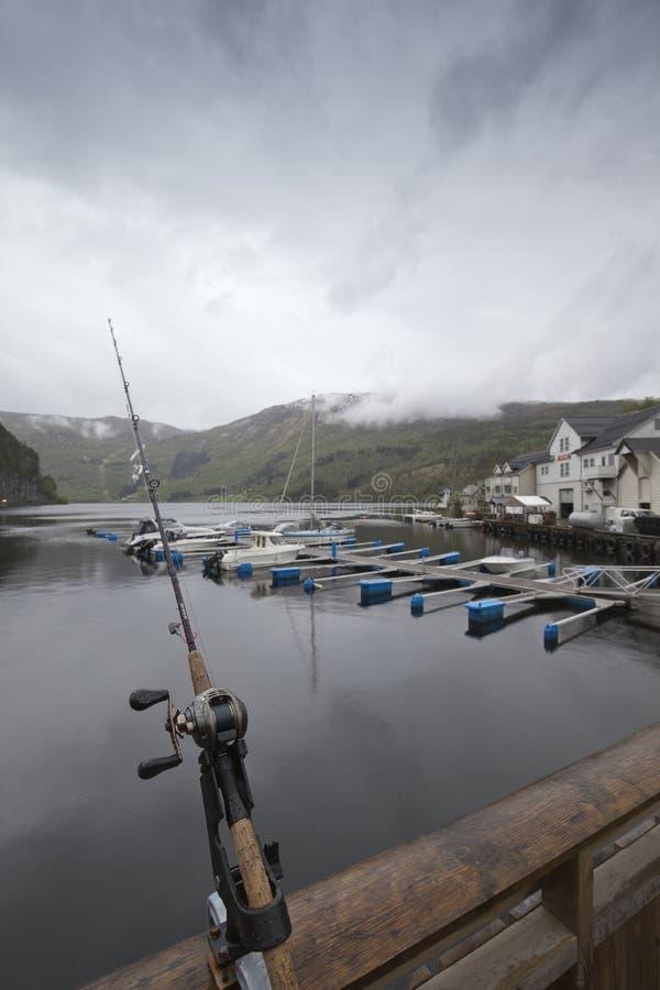 Pesca en Noruega imagenes de archivo