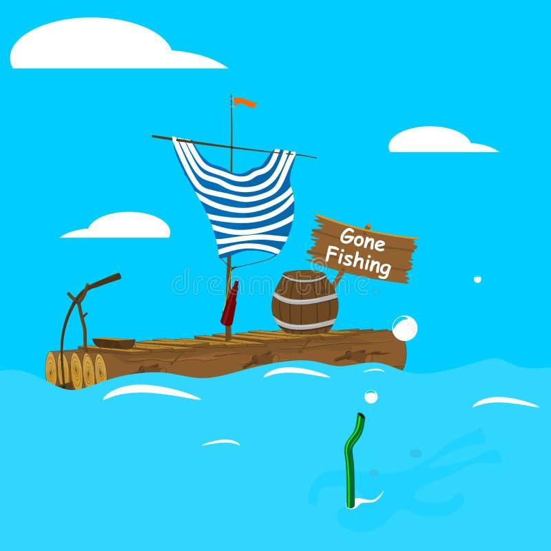 Pesca ida stock de ilustración
