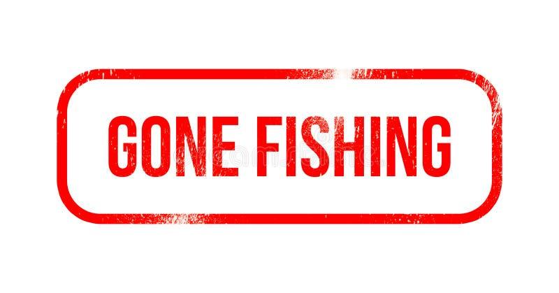 Pesca ida - caucho rojo del grunge, sello libre illustration