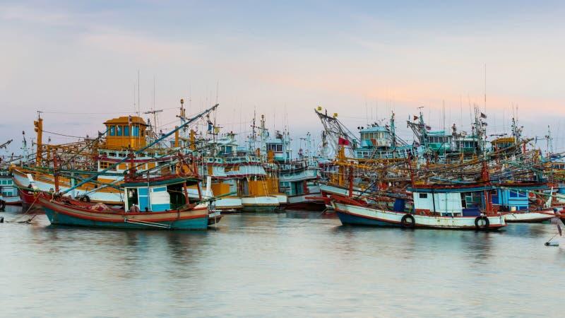 Pesca industriale in Tailandia fotografie stock