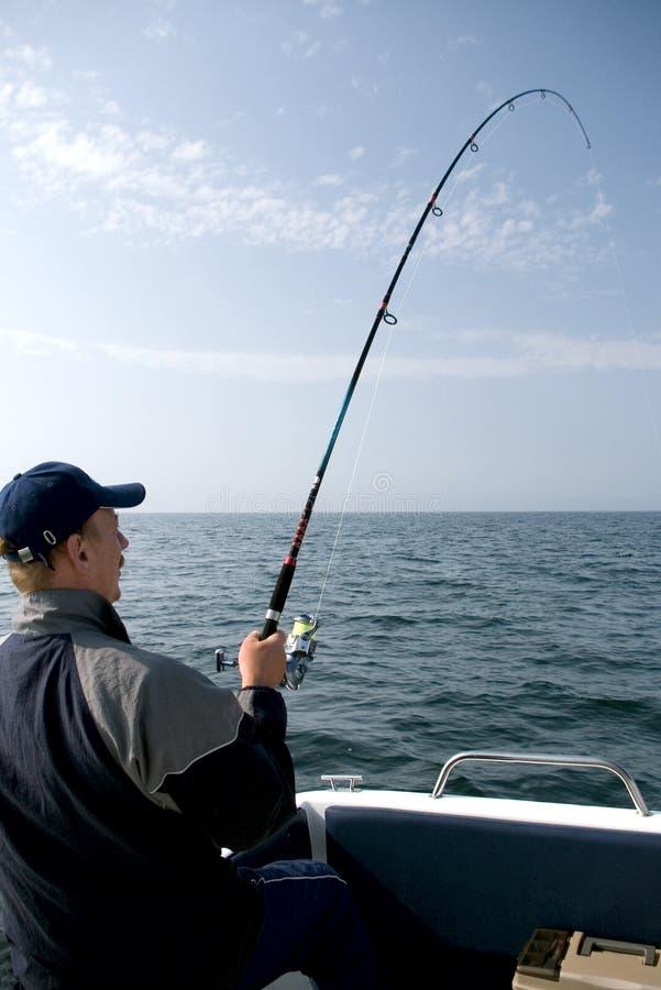 Pesca marittima. immagine stock