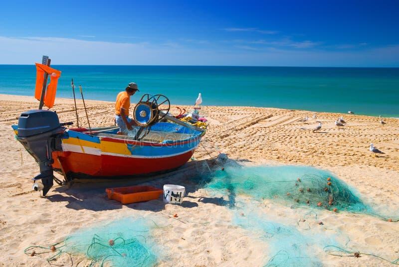 Pesca no Algarve imagem de stock royalty free