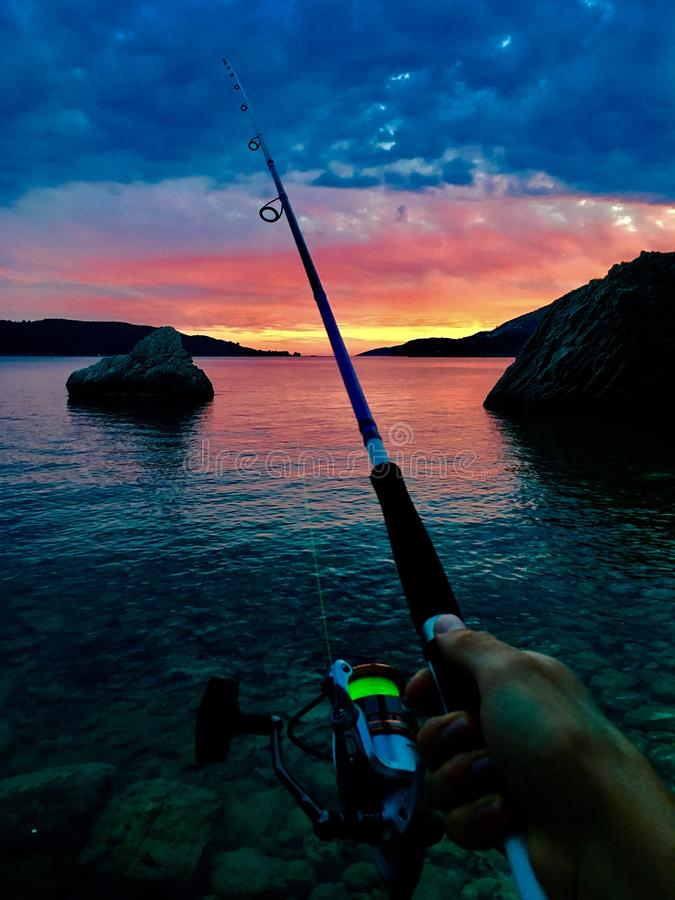 Pesca no mar fotos de stock