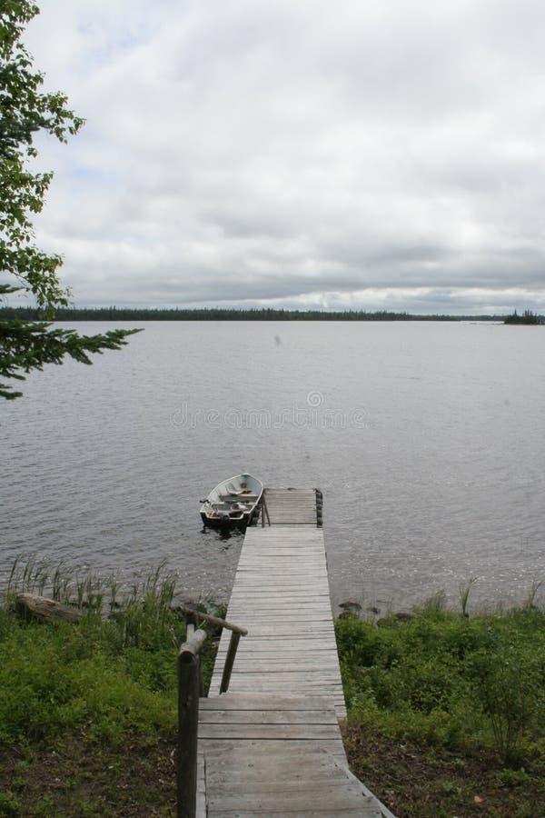 Pesca nublada del día fotografía de archivo libre de regalías