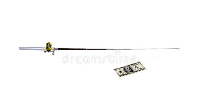 Pesca para el dinero imágenes de archivo libres de regalías
