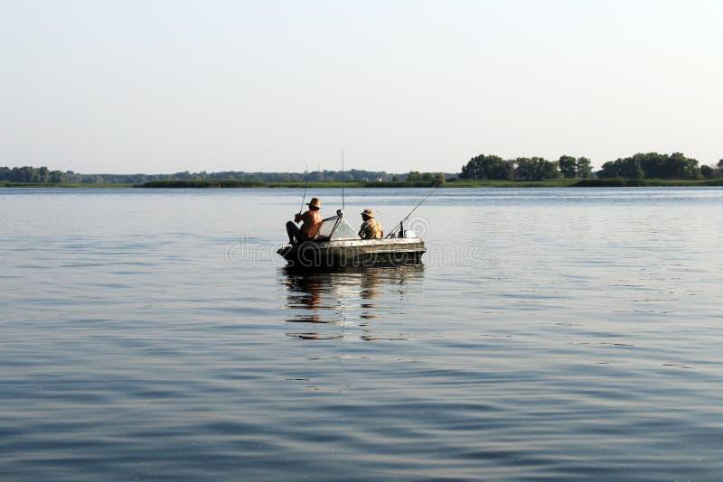 Pesca recreacional do barco do verão foto de stock royalty free