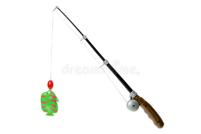 Pesca Rod do brinquedo imagens de stock royalty free