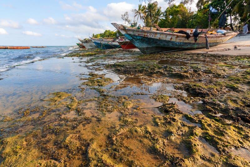 Pesca tradicional do Dhow e embarcação de carga imagens de stock royalty free