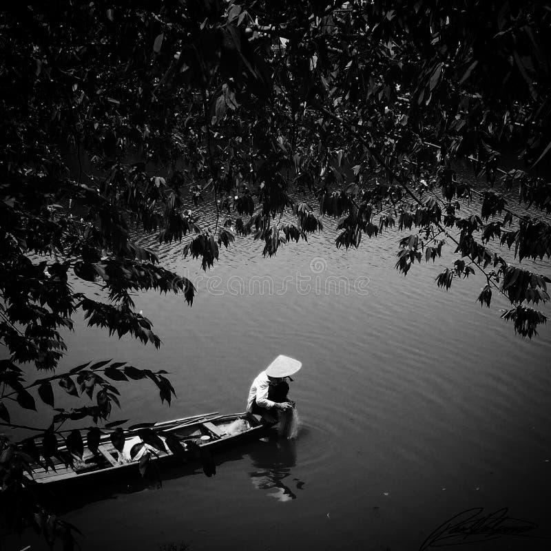 Pesca vietnamiana fotografia de stock royalty free