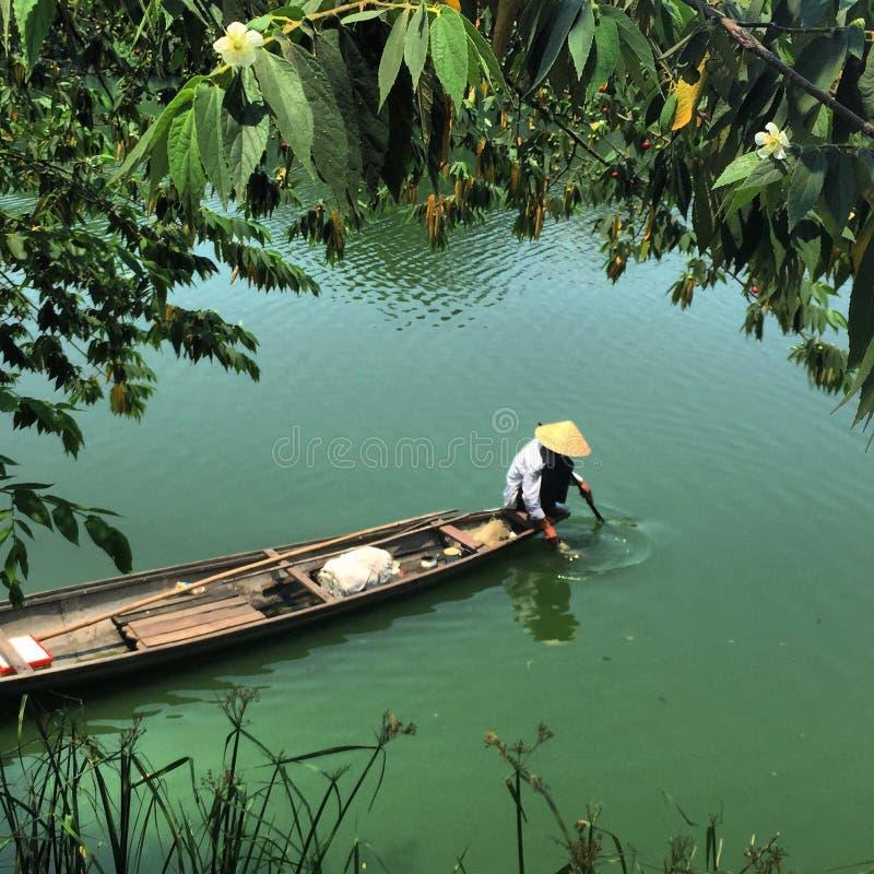 Pesca vietnamita immagine stock libera da diritti