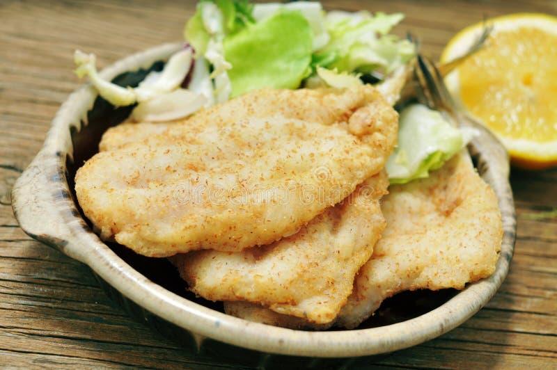 Pescadas fritadas imagem de stock