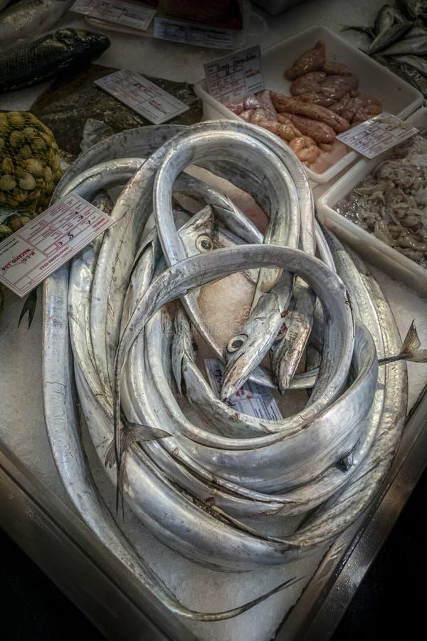 Pescado espada de plata en venta imagen de archivo libre de regalías
