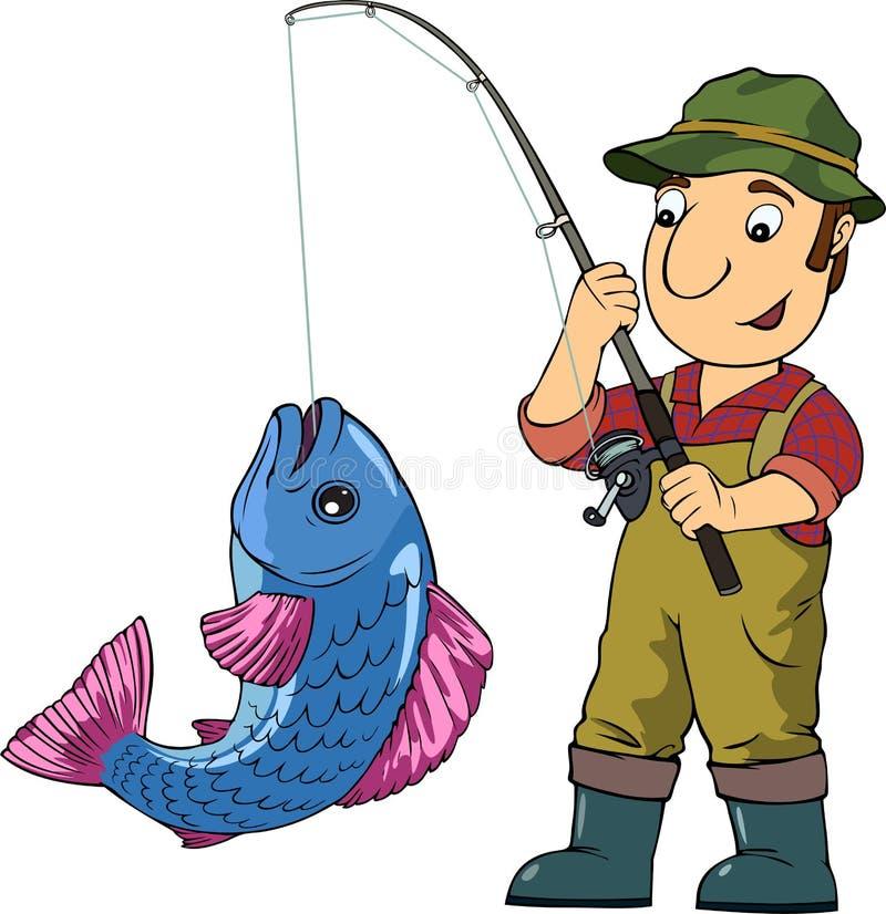 Pescador ilustração do vetor