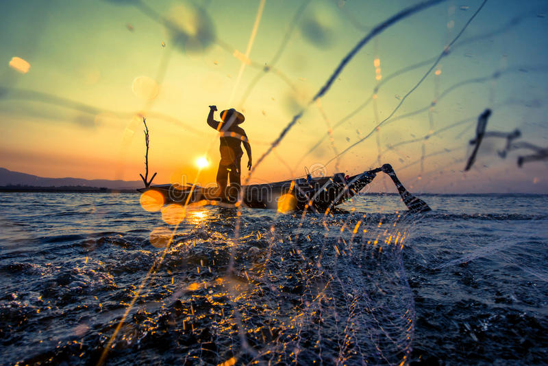 Pescador imagem de stock royalty free