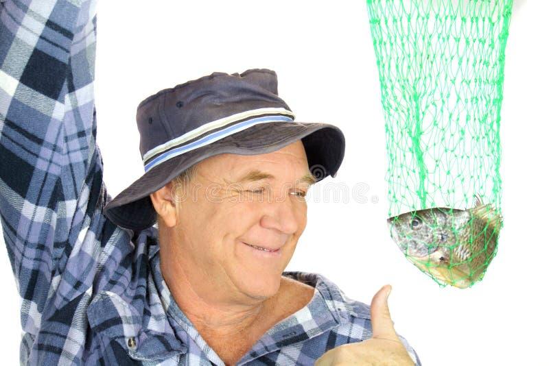 Pescador com rede imagens de stock