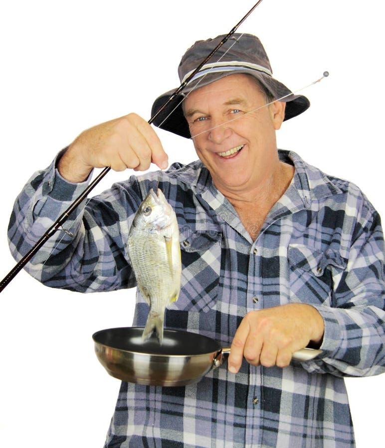 Pescador da bandeja de fritada fotos de stock royalty free