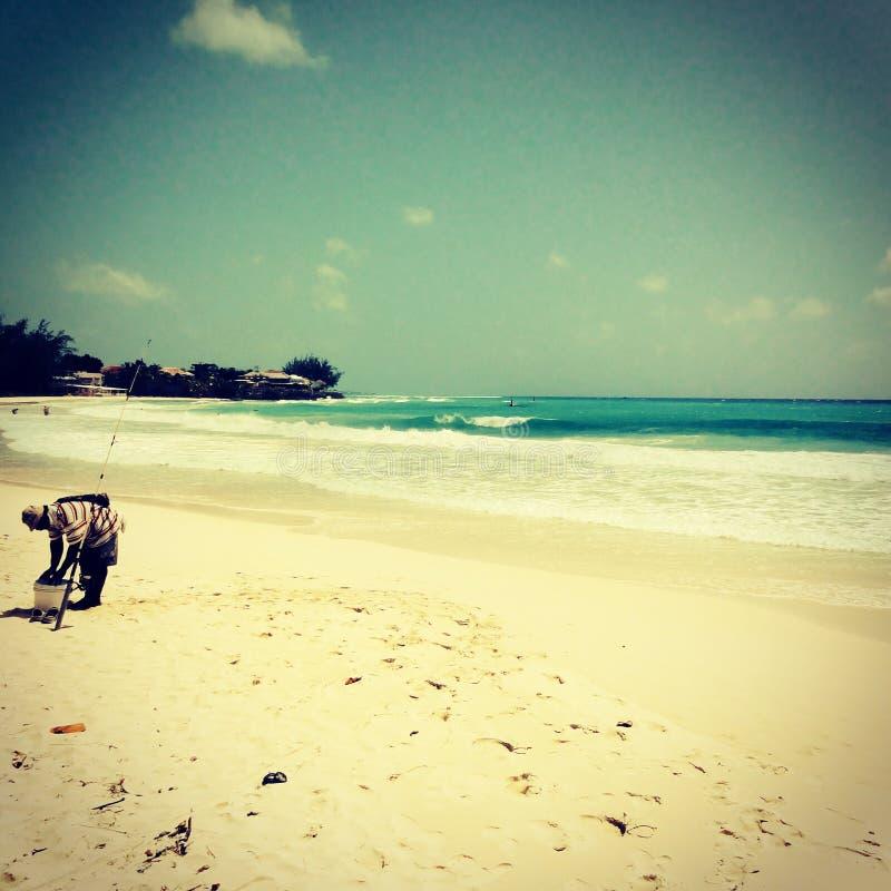 Pescador de Barbados fotos de archivo