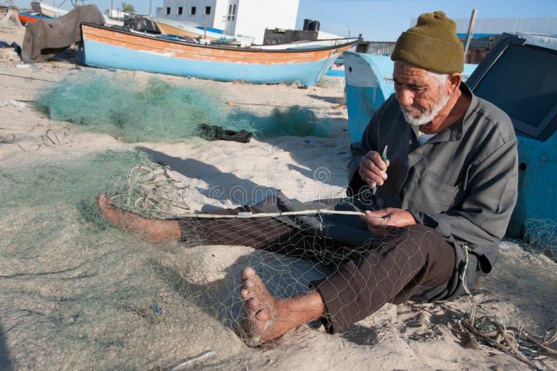 Pescador de Gaza foto de archivo libre de regalías