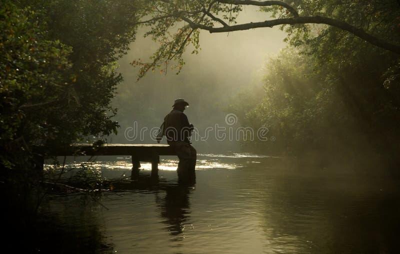 Pescador de la mosca fotografía de archivo libre de regalías