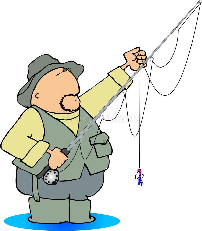 Pescador de la mosca ilustración del vector