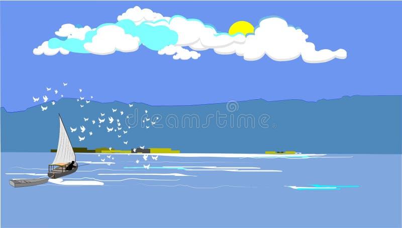 Pescador del Mar Egeo libre illustration